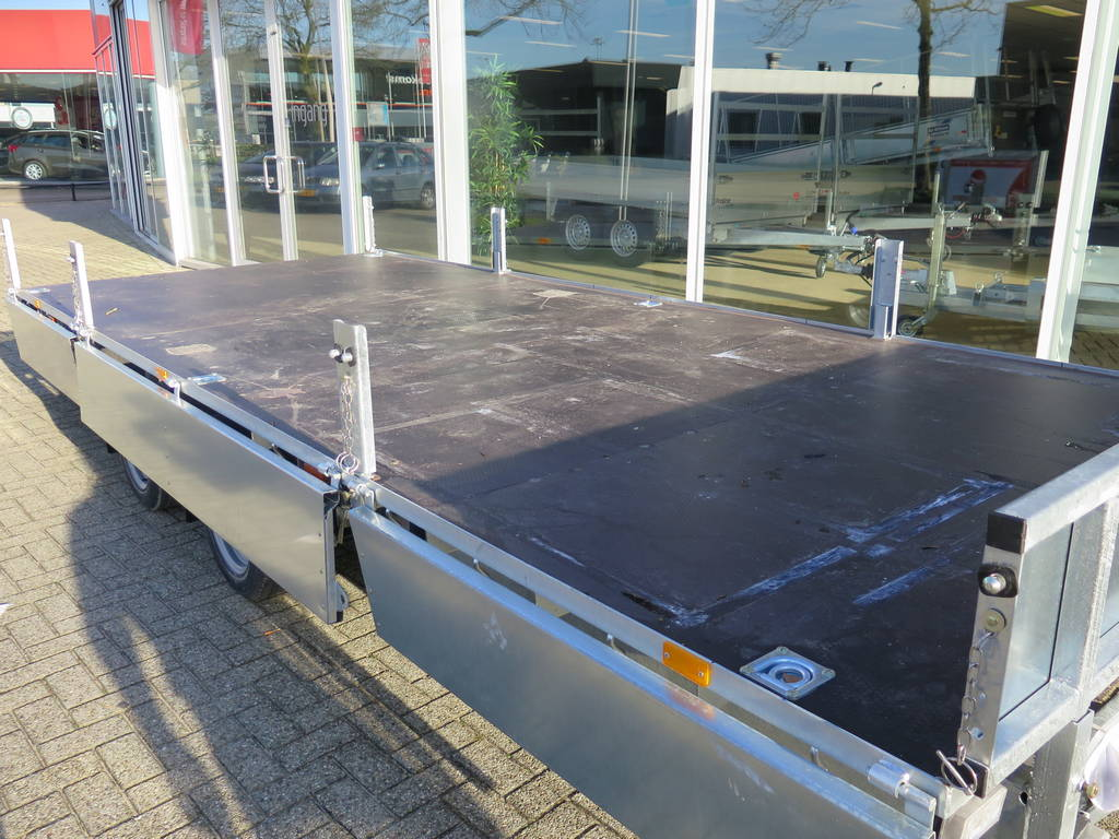 Ifor Williams plateau 547x225cm 3500kg 2-as Aanhangwagens XXL West Brabant vlak Aanhangwagens XXL West Brabant