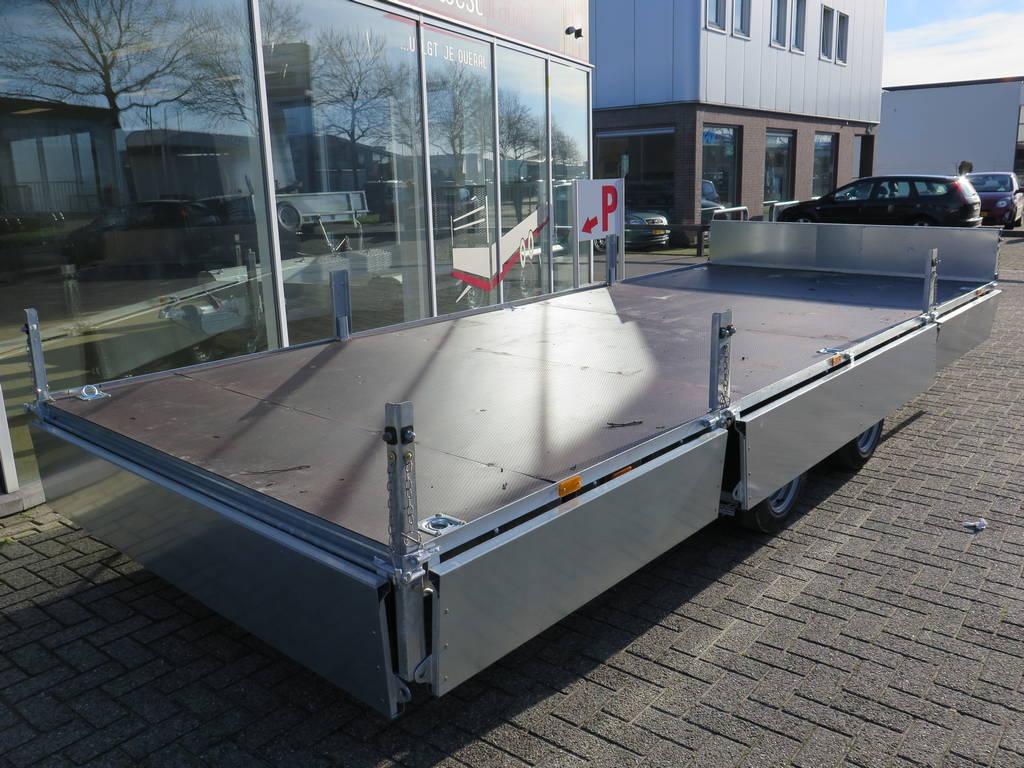 Ifor Williams plateau 547x225cm 3500kg 2-as Aanhangwagens XXL West Brabant zijkant vlak Aanhangwagens XXL West Brabant