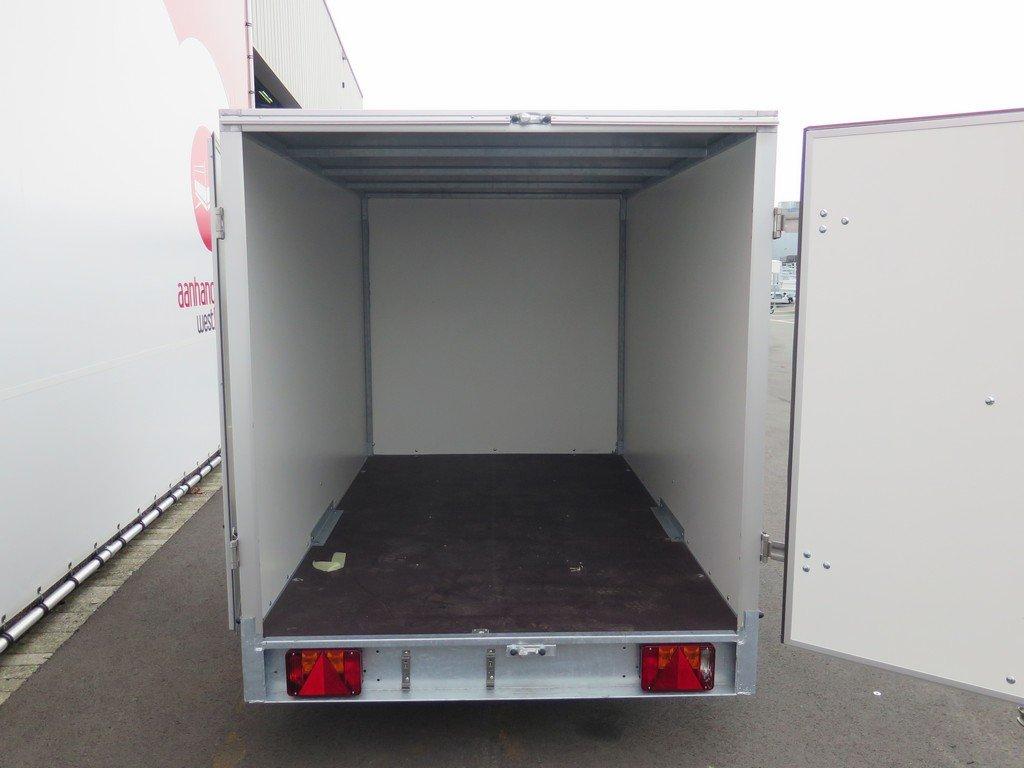 Easyline gesloten aanhanger 250x125x150cm 750kg Aanhangwagens XXL West Brabant achter open Aanhangwagens XXL West Brabant