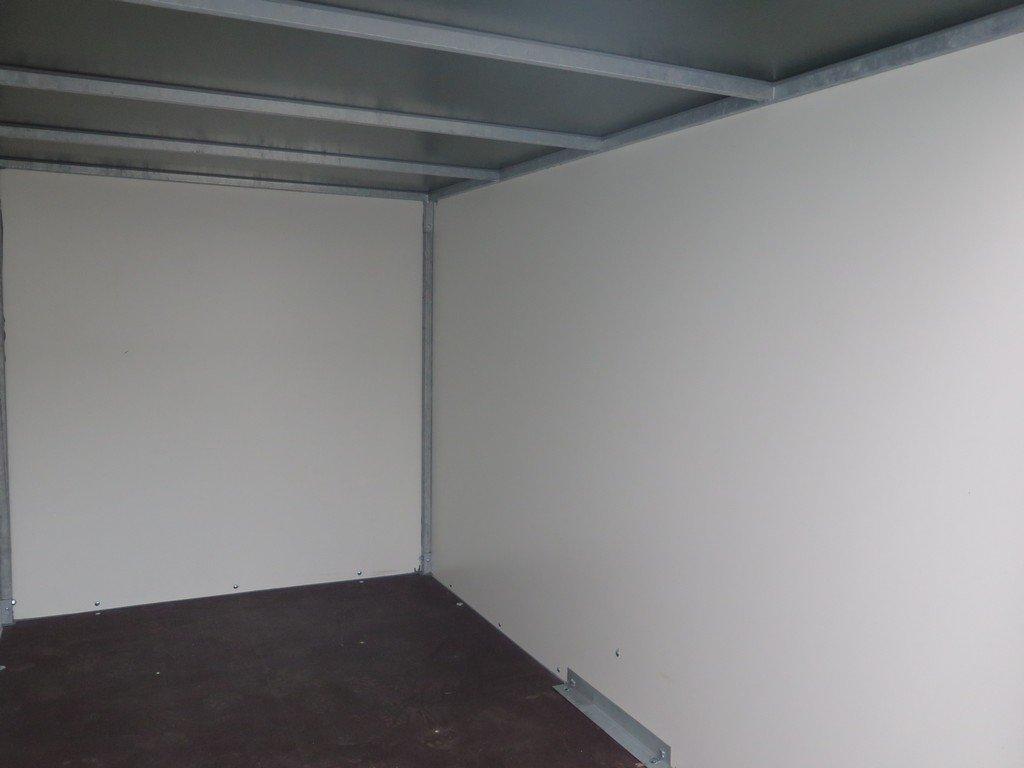 Easyline gesloten aanhanger 250x125x150cm 750kg Aanhangwagens XXL West Brabant binnenkant Aanhangwagens XXL West Brabant