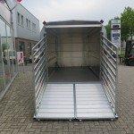 Ifor Williams veetrailer 366x178x183cm klep deur systeem veetrailers Aanhangwagens XXL West Brabant achterkant rek open Aanhangwagens XXL West Brabant