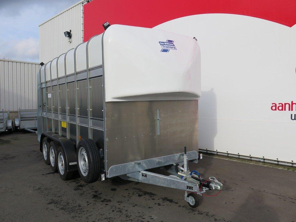 Ifor Williams veetrailer 427x178x213cm 3500kg tridemas Aanhangwagens XXL West Brabant 2.0 voorkant Aanhangwagens XXL West Brabant