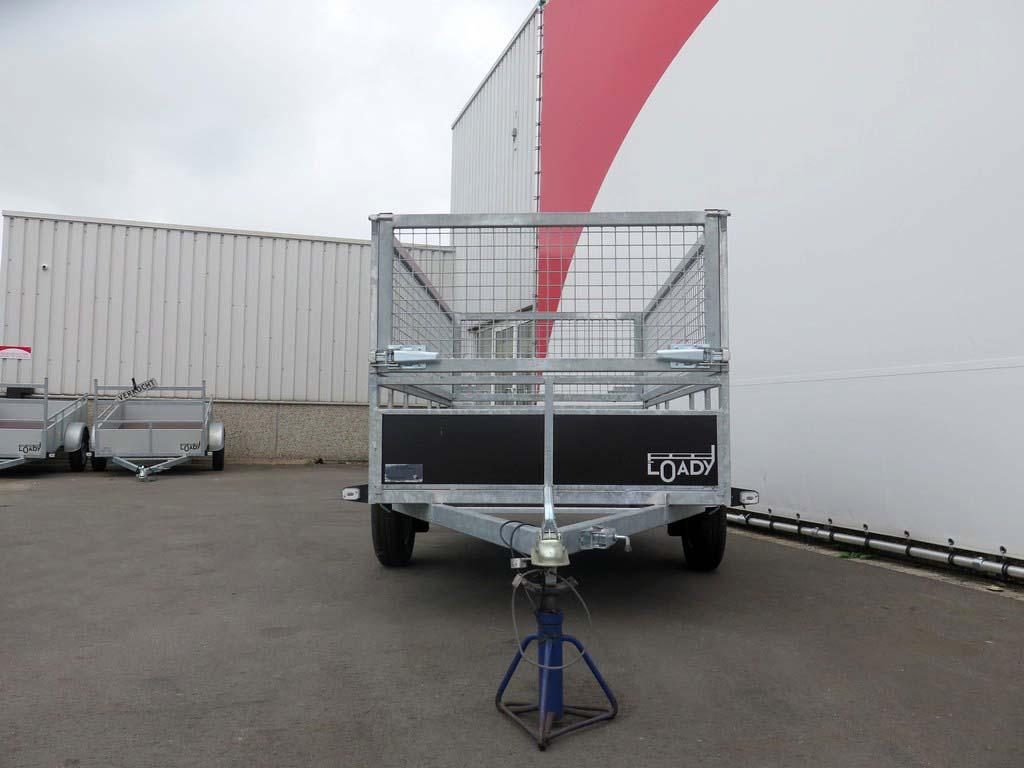 Loady enkelas groenaanhanger 250x130cm 750kg