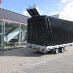 Proline plateauwagen met huif 400x220x210cm 3500kg Aanhangwagens XXL West Brabant achterkant dicht Aanhangwagens XXL West Brabant
