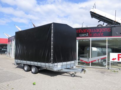 Proline plateauwagen met huif 400x220x210cm 3500kg Aanhangwagens XXL West Brabant hoofd Aanhangwagens XXL West Brabant