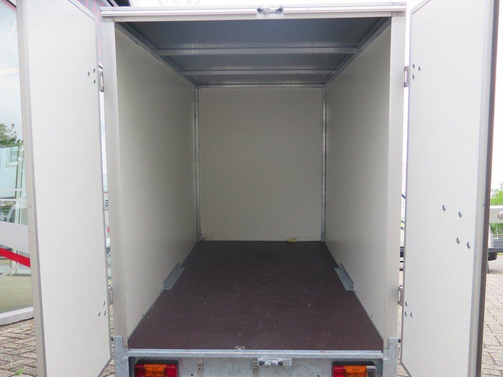 Easyline gesloten aanhanger 200x125x150cm 750kg Aanhangwagens XXL West Brabant achter open