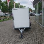 Easyline gesloten aanhanger 200x125x150cm 750kg Aanhangwagens XXL West Brabant voorkant