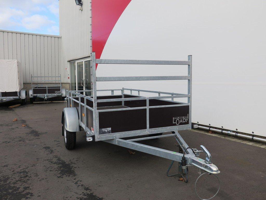 Loady enkelas aanhanger 250x130cm 750kg Aanhangwagens XXL West Brabant 2.0 voorkant Aanhangwagens XXL West Brabant