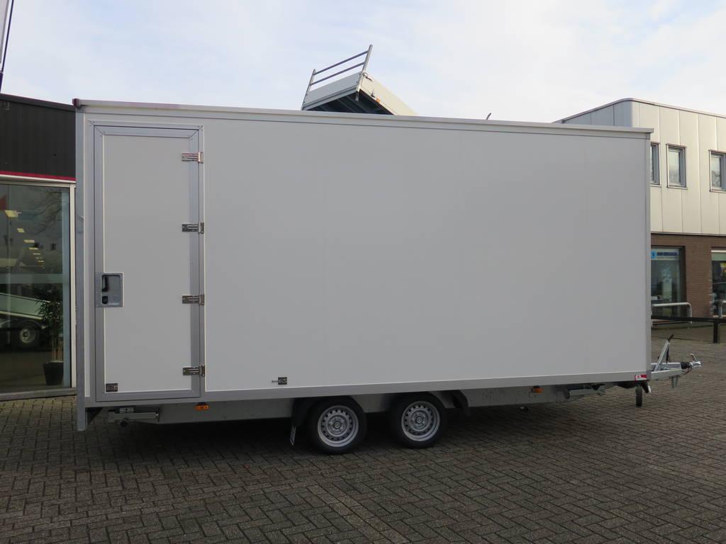 Maatwerk gesloten aanhangwagen 500x244x230cm speciaalbouw Aanhangwagens XXL West Brabant zijkant 2.0 Aanhangwagens XXL West Brabant