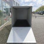 Easyline gesloten ballonwagen 350x140x145cm 1500kg speciaalbouw Aanhangwagens XXL West Brabant achterkant geopend Aanhangwagens XXL West Brabant