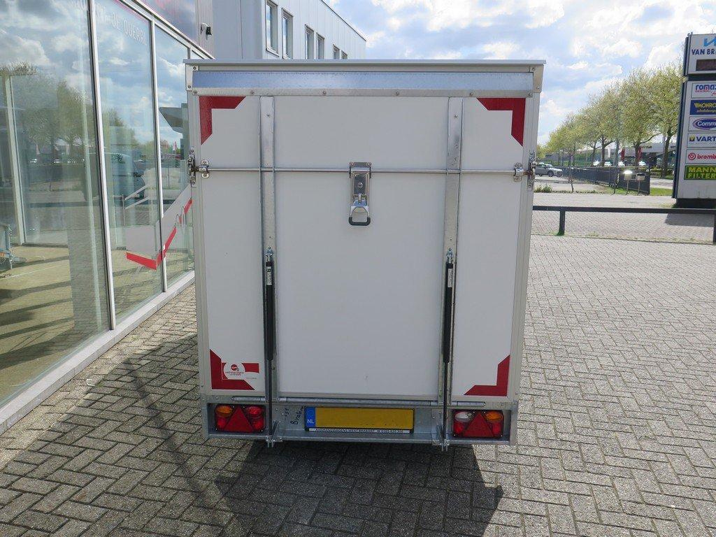 Easyline gesloten ballonwagen 350x140x145cm 1500kg speciaalbouw Aanhangwagens XXL West Brabant achterkant gesloten Aanhangwagens XXL West Brabant