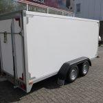Easyline gesloten ballonwagen 350x140x145cm 1500kg speciaalbouw Aanhangwagens XXL West Brabant achterkant schuin Aanhangwagens XXL West Brabant