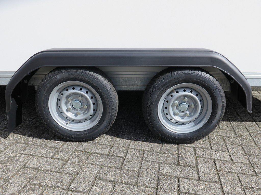 Easyline gesloten ballonwagen 350x140x145cm 1500kg speciaalbouw Aanhangwagens XXL West Brabant dubbelas Aanhangwagens XXL West Brabant