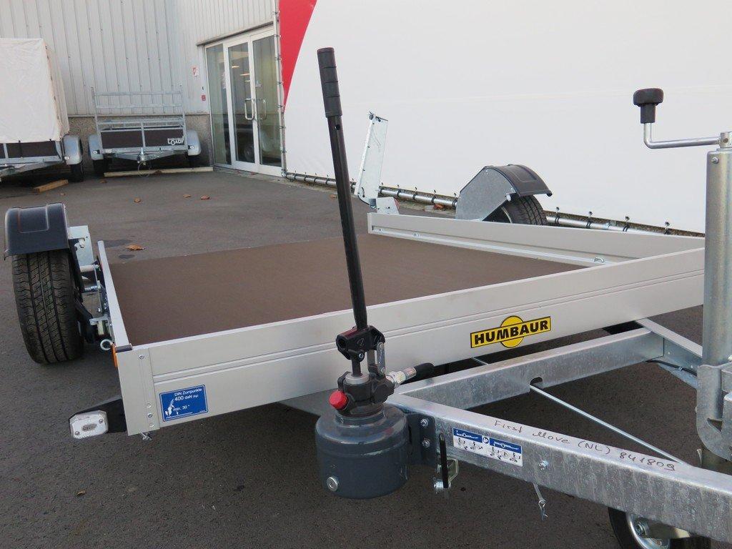 Humbaur motortrailer 280x175cm 1350kg zakbaar Aanhangwagens XXL West Brabant 2.0 handpomp Aanhangwagens XXL West Brabant