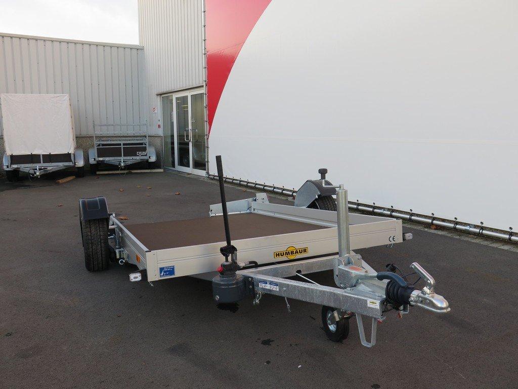 Humbaur motortrailer 280x175cm 1350kg zakbaar Aanhangwagens XXL West Brabant 2.0 voorkant Aanhangwagens XXL West Brabant