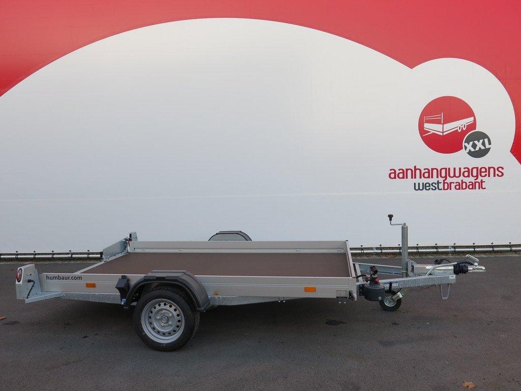 Humbaur motortrailer 280x175cm 1350kg zakbaar Aanhangwagens XXL West Brabant 2.0 zijkant vlak Aanhangwagens XXL West Brabant