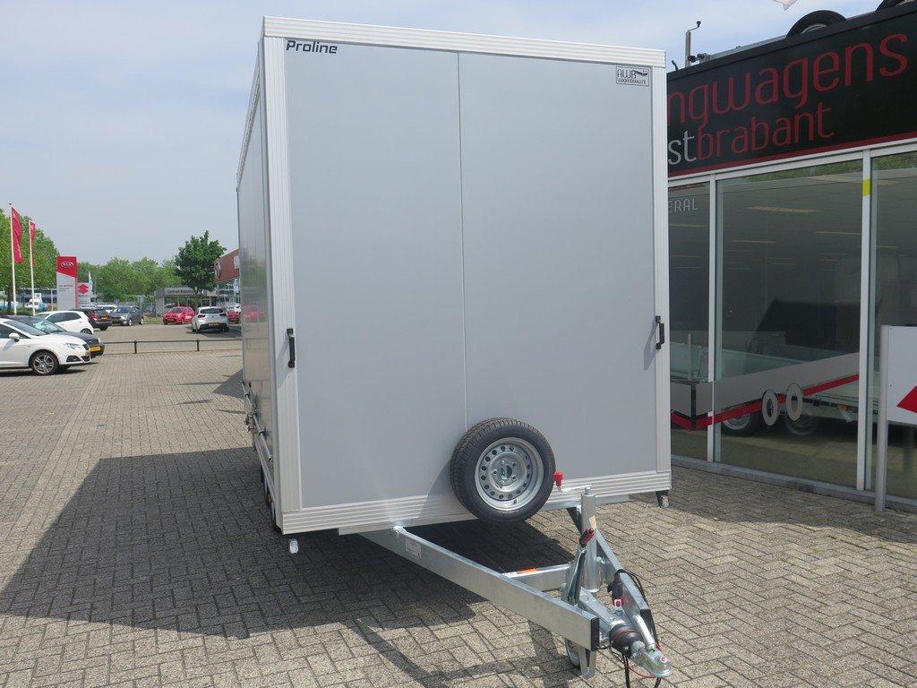 Proline gesloten aanhanger 425x204x230cm 2600kg Aanhangwagens XXL West Brabant voorkant Aanhangwagens XXL West Brabant