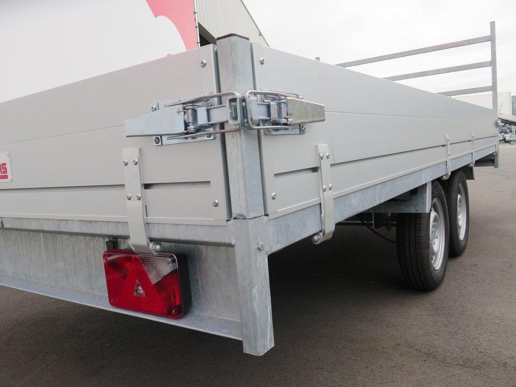 Anssems plateauwagen 405x178cm 2000kg eco Aanhangwagens XXL West Brabant sluiting Aanhangwagens XXL West Brabant