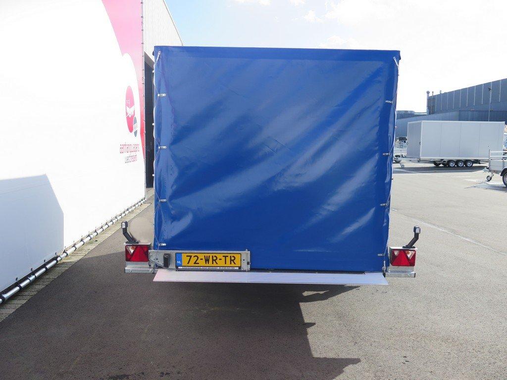 Proline motortrailer 314x180x170cm 1500kg zakbaar met huif Aanhangwagens XXL West Brabant achter dicht
