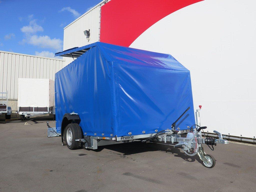 Proline motortrailer 314x180x170cm 1500kg zakbaar met huif Aanhangwagens XXL West Brabant voorkant