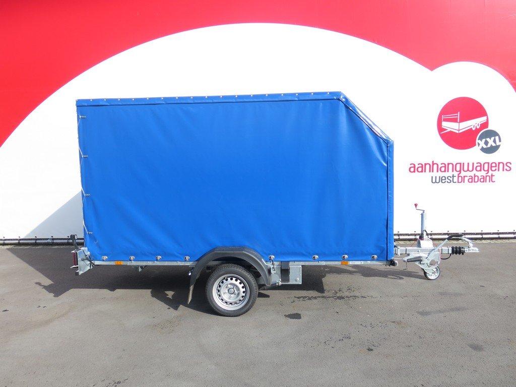 Proline motortrailer 314x180x170cm 1500kg zakbaar met huif Aanhangwagens XXL West Brabant zijkant