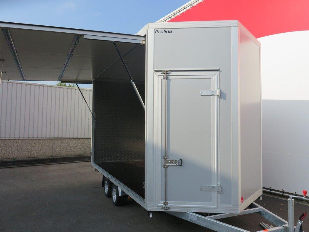 Proline gesloten aanhanger 425x204x250cm 3000kg Aanhangwagens XXL West Brabant voorkant open Aanhangwagens XXL West Brabant