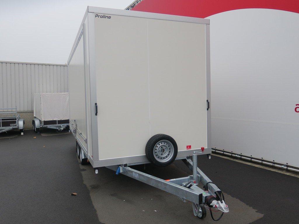 Proline gesloten aanhanger 485x204x210cm 3000kg Aanhangwagens XXL West Brabant voorkant Aanhangwagens XXL West Brabant