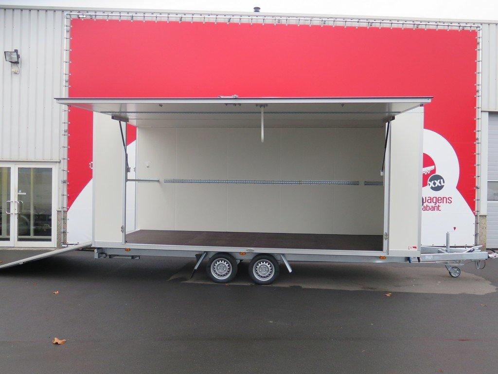 Proline gesloten aanhanger 485x204x210cm 3000kg Aanhangwagens XXL West Brabant zijklep open Aanhangwagens XXL West Brabant