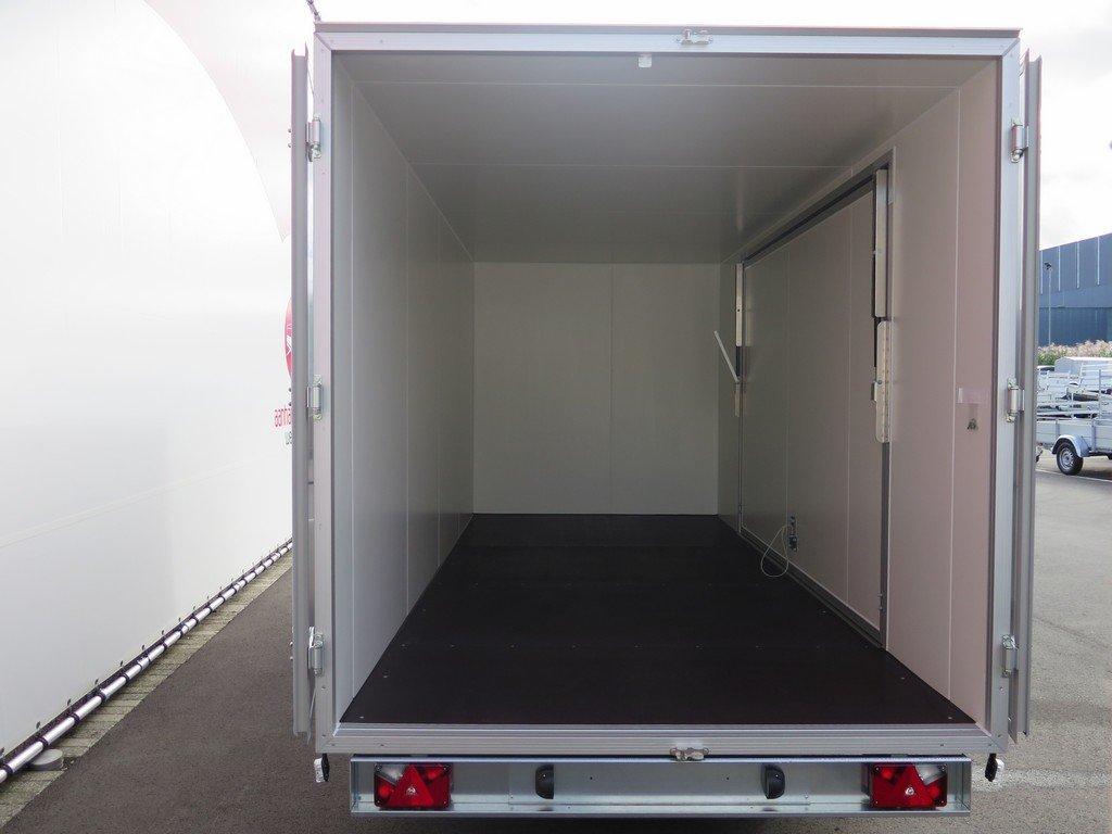 Proline gesloten aanhanger 485x204x210cm 3500kg tridemas Aanhangwagens XXL West Brabant achter open Aanhangwagens XXL West Brabant