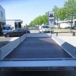Proline plateauwagen 503x220cm 3500kg verlaagd Aanhangwagens XXL West Brabant achterkant geopend Aanhangwagens XXL West Brabant