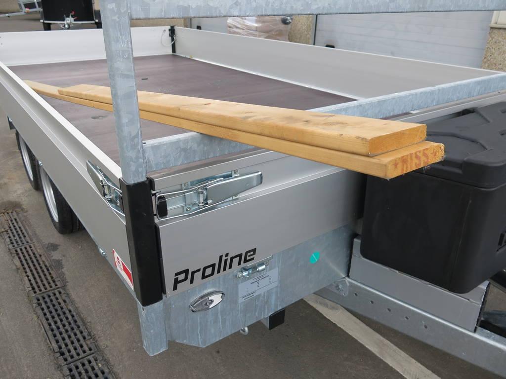 Proline plateauwagen 503x220cm 3500kg verlaagd Aanhangwagens XXL West Brabant hoekrongen Aanhangwagens XXL West Brabant