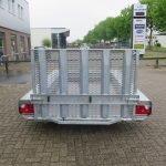 Hulco machinetransporter 300x150cm 1500kg Basic Aanhangwagens XXL West Brabant 2.0 achter dicht Aanhangwagens XXL West Brabant