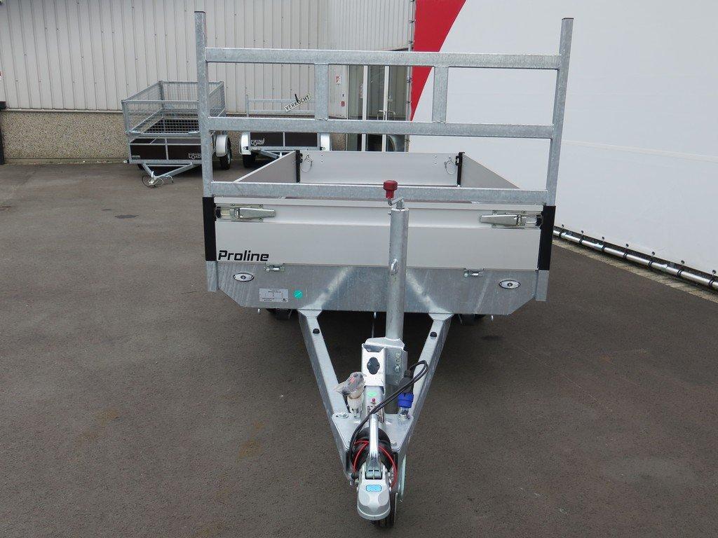 Proline plateauwagen 301x155cm 2700kg Aanhangwagens XXL West Brabant 2.0 voorkant Aanhangwagens XXL West Brabant