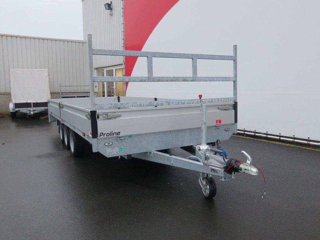 Proline plateauwagen 503x202cm 3500kg verlaagd tridemas Aanhangwagens XXL West Brabant voorkant Aanhangwagens XXL West Brabant