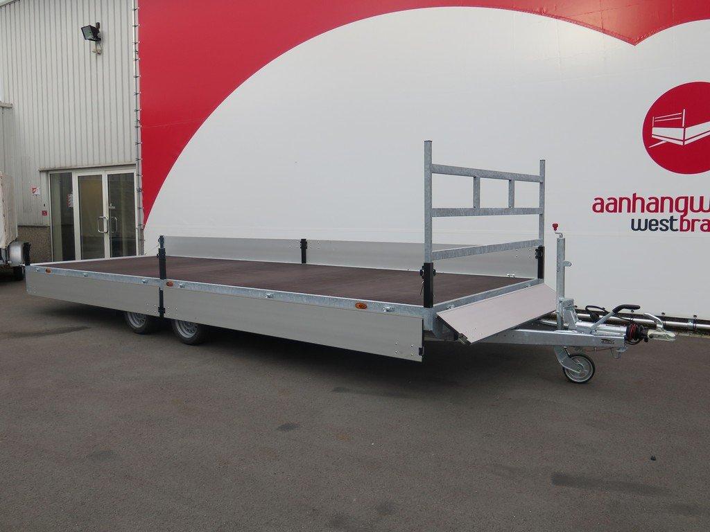 Proline plateauwagen 603x222cm 2700kg verlaagd Aanhangwagens XXL West Brabant 2.0 geopend Aanhangwagens XXL West Brabant