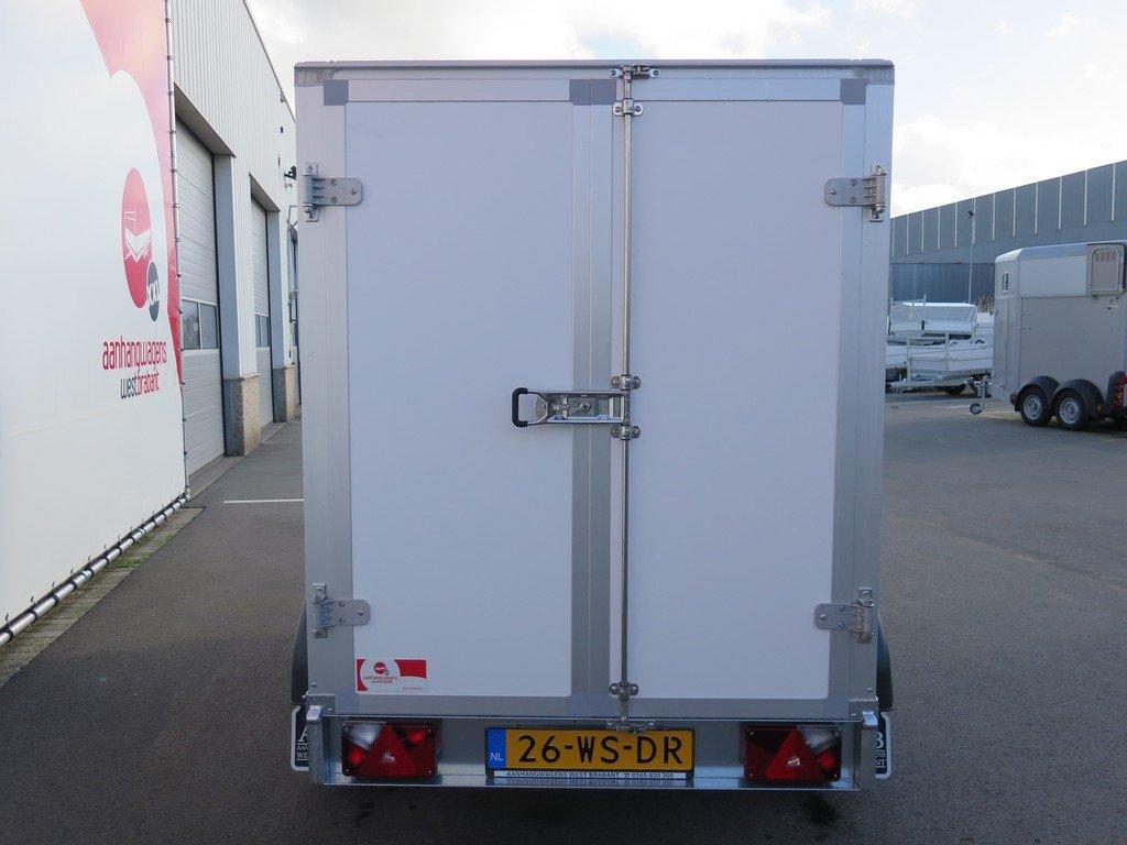 Saris gesloten aanhanger 256x134x150cm 2000kg Aanhangwagens XXL West Brabant 2.0 achter dicht Aanhangwagens XXL West Brabant