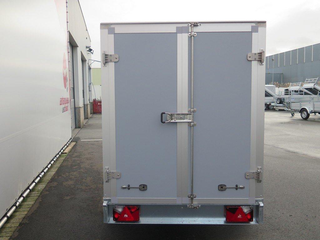 Saris gesloten aanhanger 256x134x150cm 1350kg grijs Aanhangwagens XXL West Brabant achter dicht