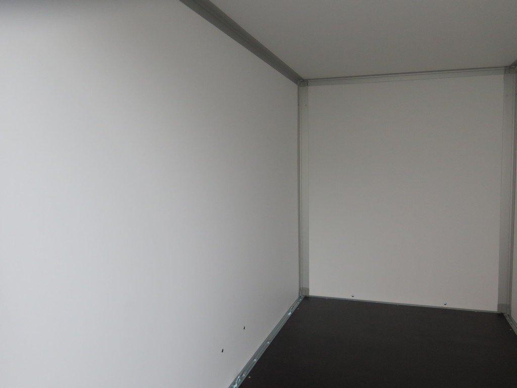 Saris gesloten aanhanger 256x134x150cm 1350kg grijs Aanhangwagens XXL West Brabant binnenkant
