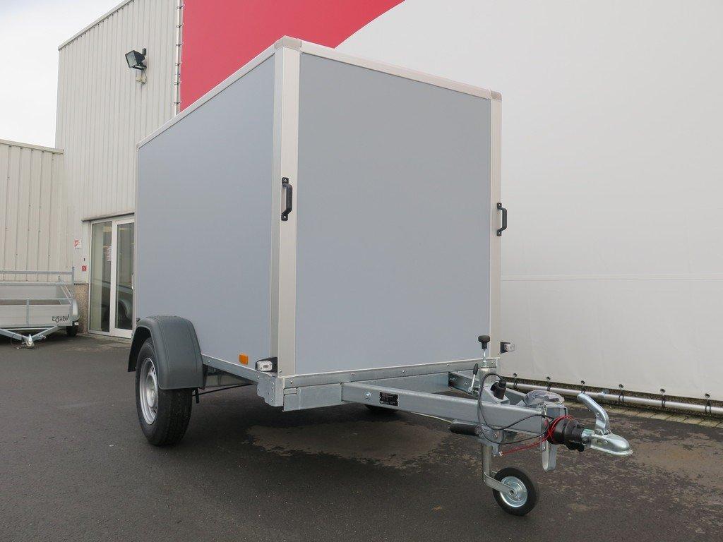Saris gesloten aanhanger 256x134x150cm 1350kg grijs Aanhangwagens XXL West Brabant overzicht