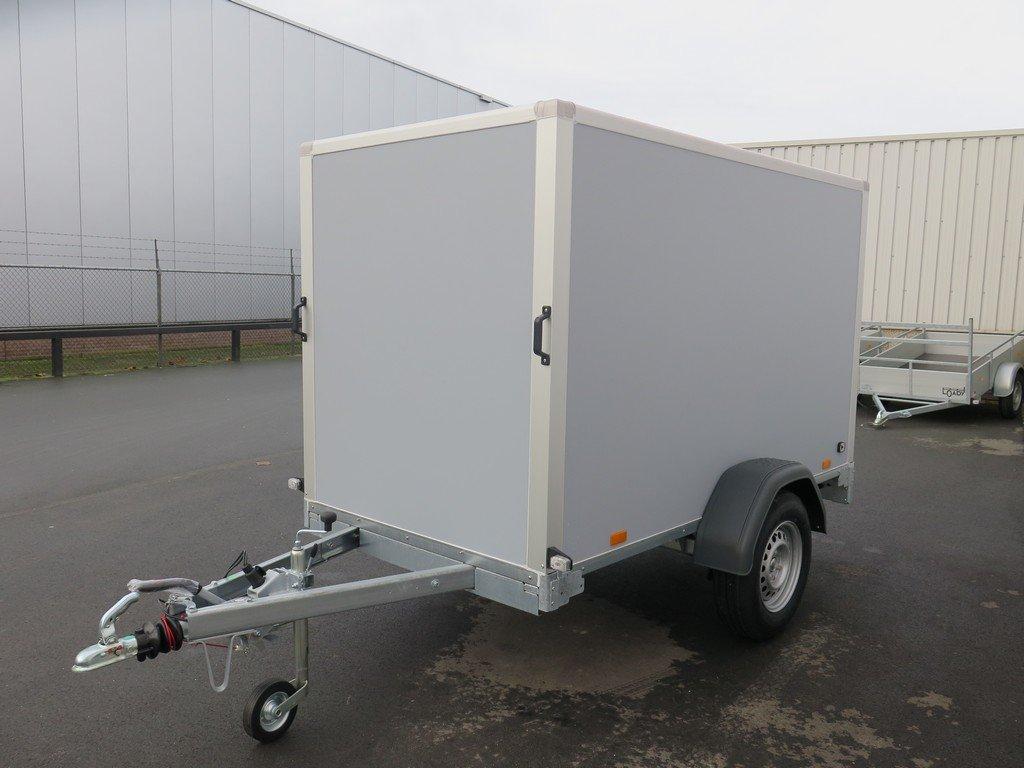 Saris gesloten aanhanger 256x134x150cm 1350kg grijs Aanhangwagens XXL West Brabant zijkant